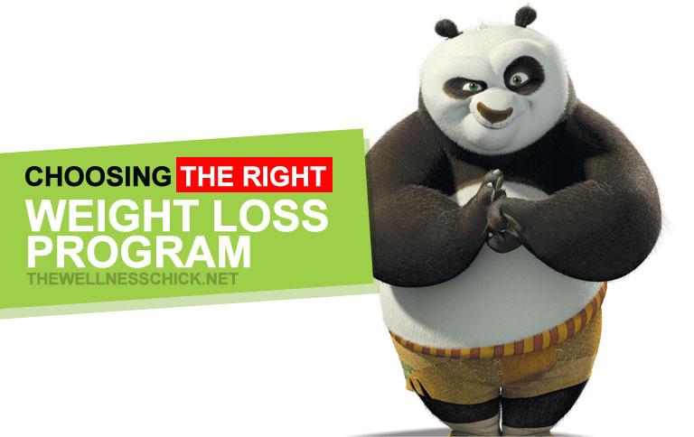 choosing the right weight loss program